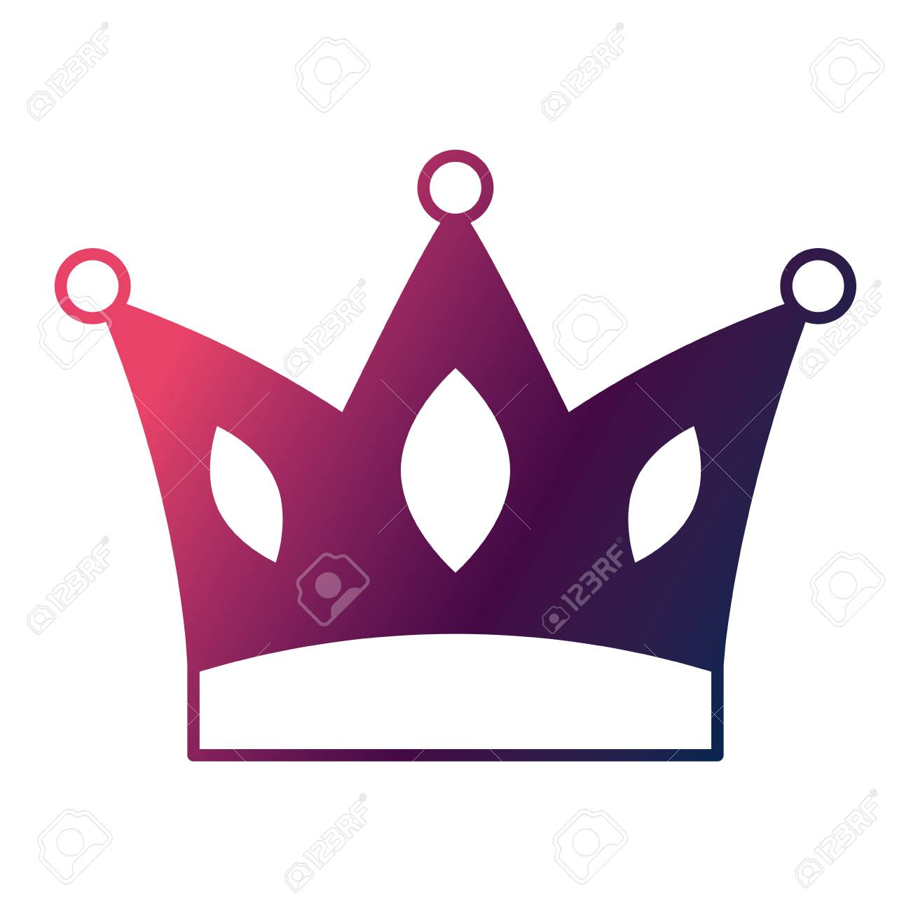crown jewelry royal monarch vector illustration degrade color rh 123rf com free vector crown princess free vector crown images