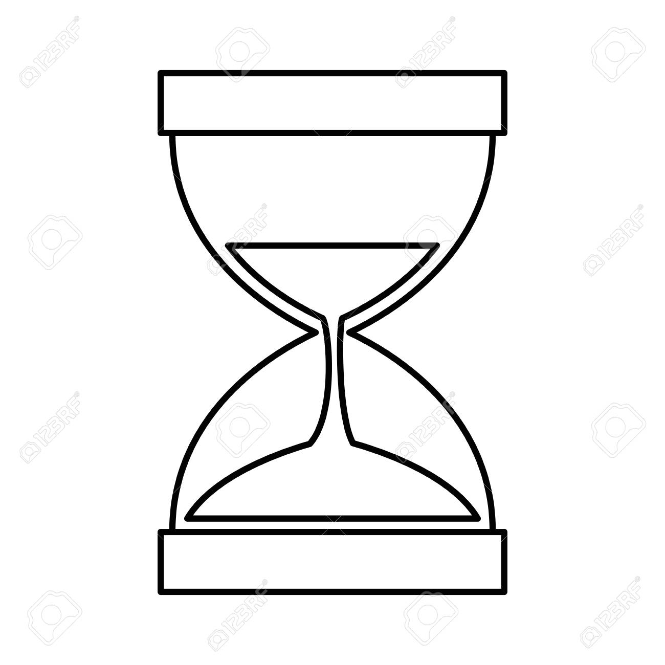 hourglass time isolated icon vector illustration design royalty free Hourglass Origin hourglass time isolated icon vector illustration design stock vector 97267222