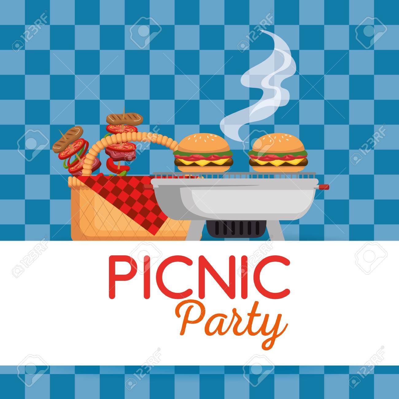 Picnic party invitation set icons vector illustration design royalty picnic party invitation set icons vector illustration design stock vector 97473980 stopboris Choice Image