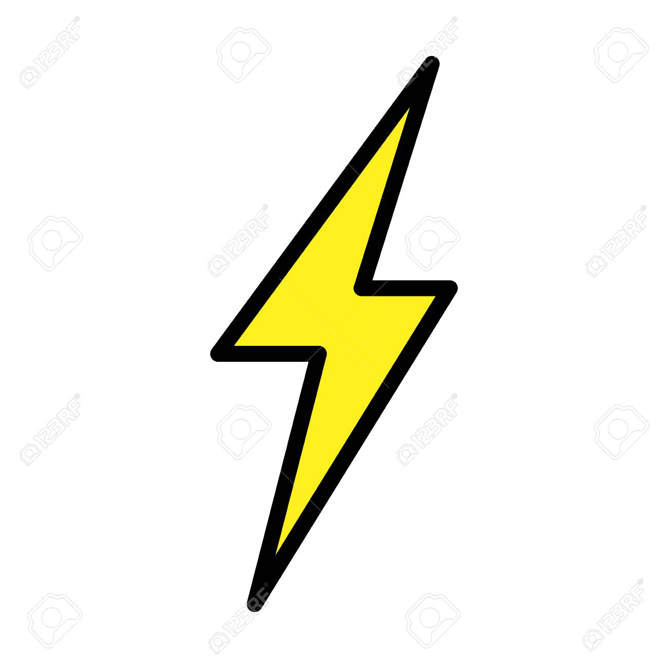 thunder ray isolated icon vector illustration design royalty free cliparts vectors and stock illustration image 97860946 thunder ray isolated icon vector illustration design