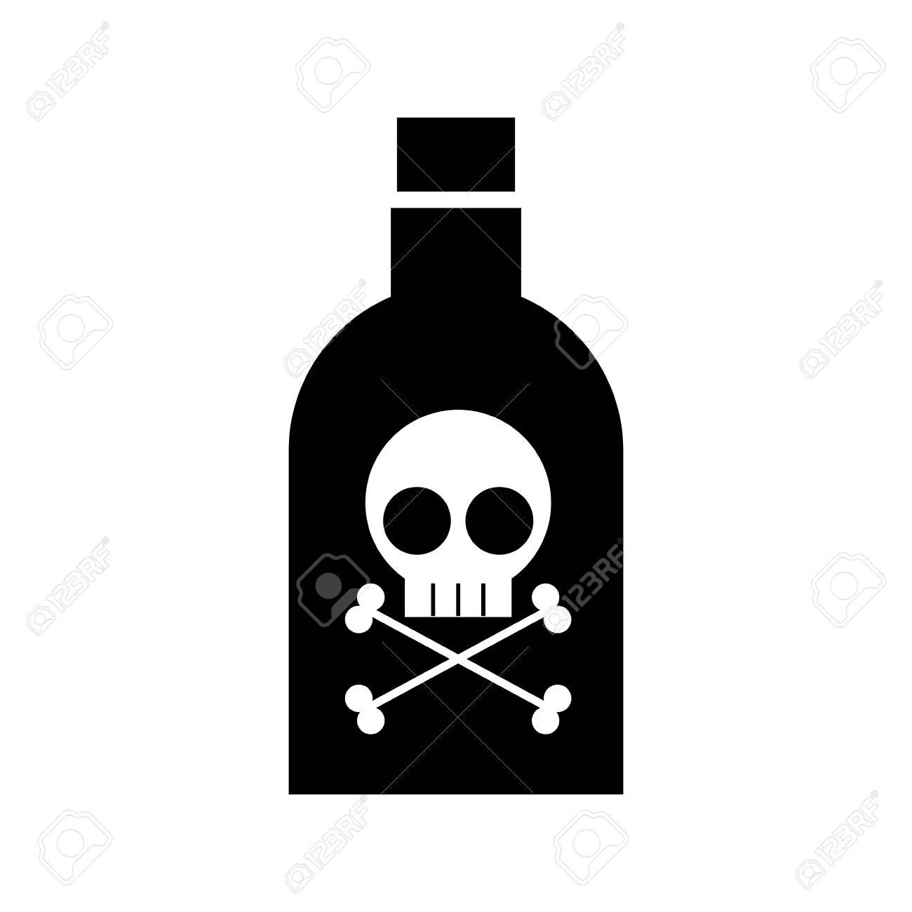 poison bottle with skull vector illustration design - 97881447