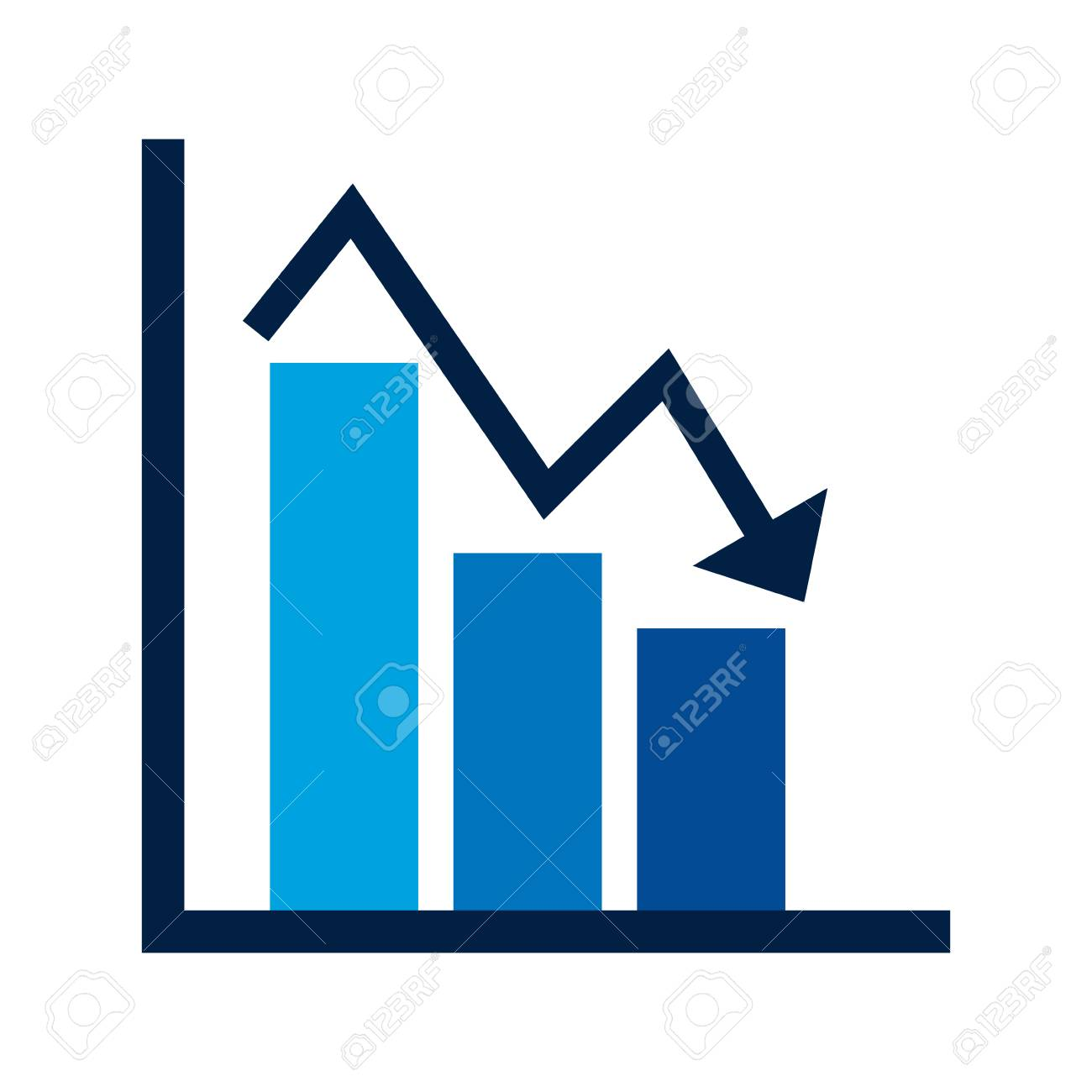 Business financial bar graph chart diagram crisis problem vector business financial bar graph chart diagram crisis problem vector illustration stock vector 97884311 ccuart Images