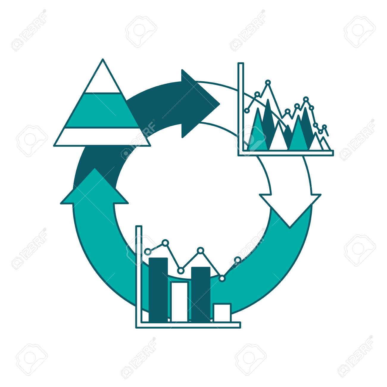 Cycle arrow diagram bar graph business theme vector illustration cycle arrow diagram bar graph business theme vector illustration green design stock vector 97909623 ccuart Images