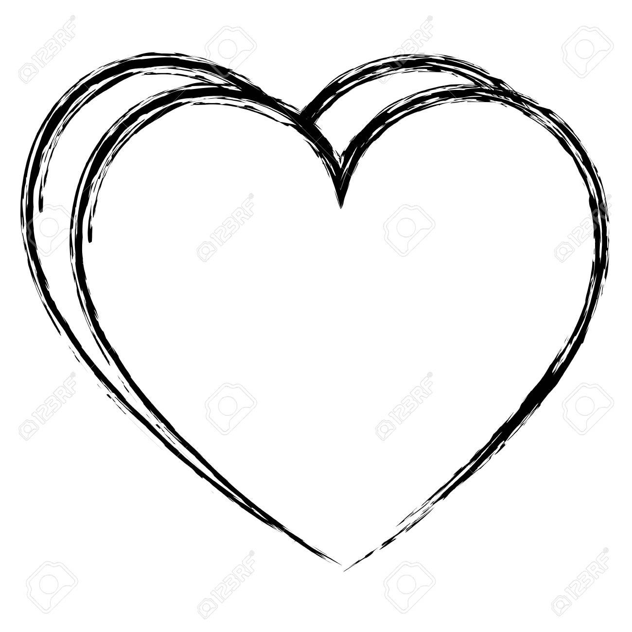 heart love isolated icon vector illustration design - 98595763
