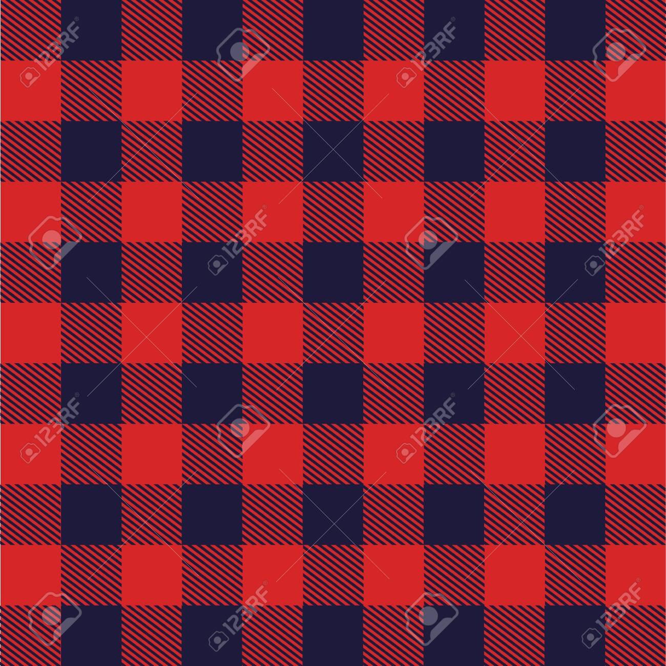 fabric with Scottish grid vector illustration design - 98596055