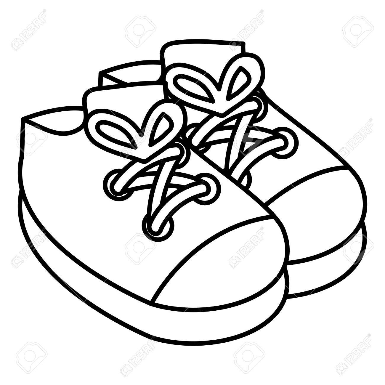 Baby Shoes Isolated Icon Vector Illustration Design Royalty Free Cliparts Vectors And Stock Illustration Image 98717610