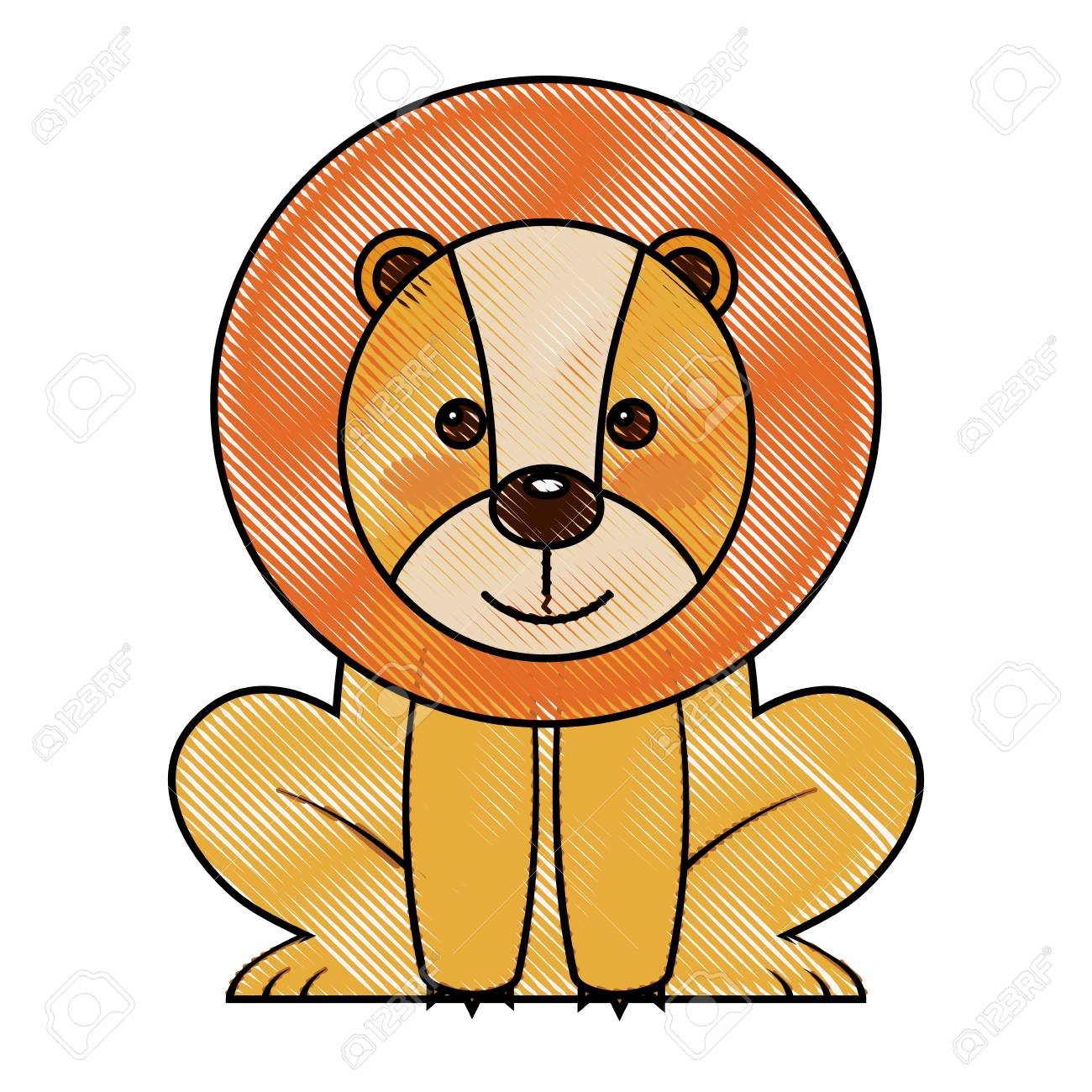 Image of: Cartoon Cute Lion Sit African Animal Zoo Vector Illustration Drawing Stock Vector 98874031 123rfcom Cute Lion Sit African Animal Zoo Vector Illustration Drawing Royalty