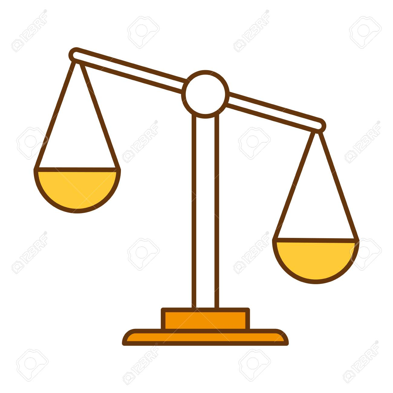 a weighing scale as a justice icon royalty free cliparts vectors