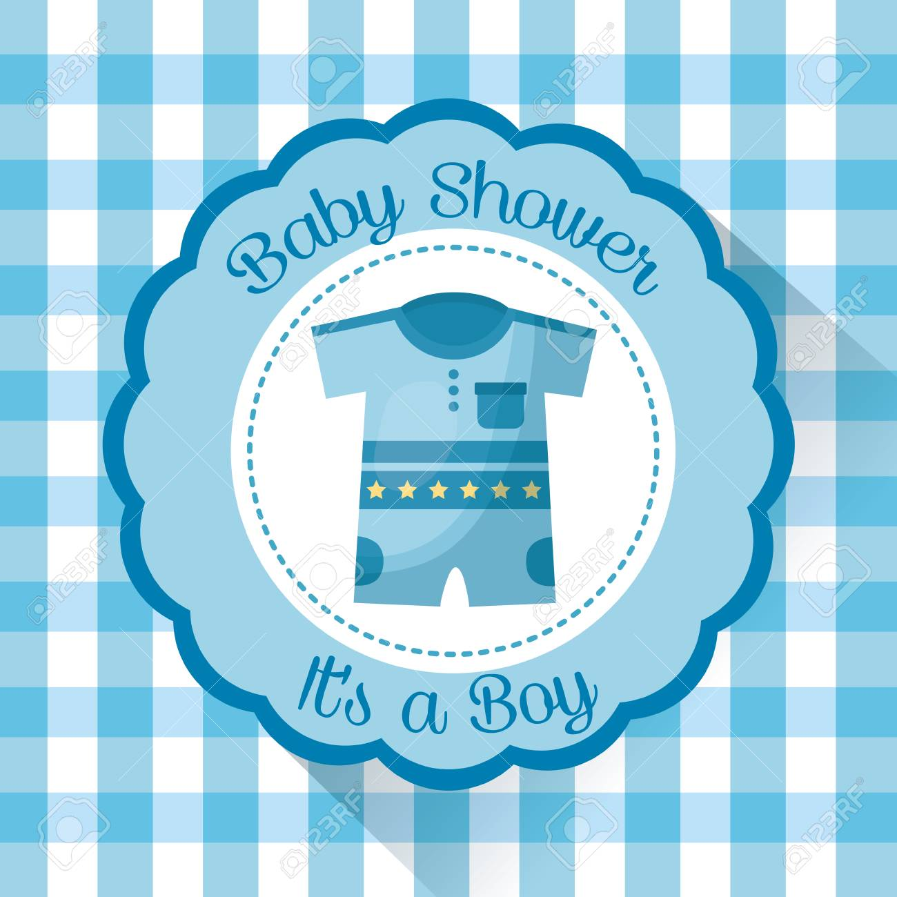 Happy Baby Shower Sticker With Clothes Boy A Boy Welcome Celebration