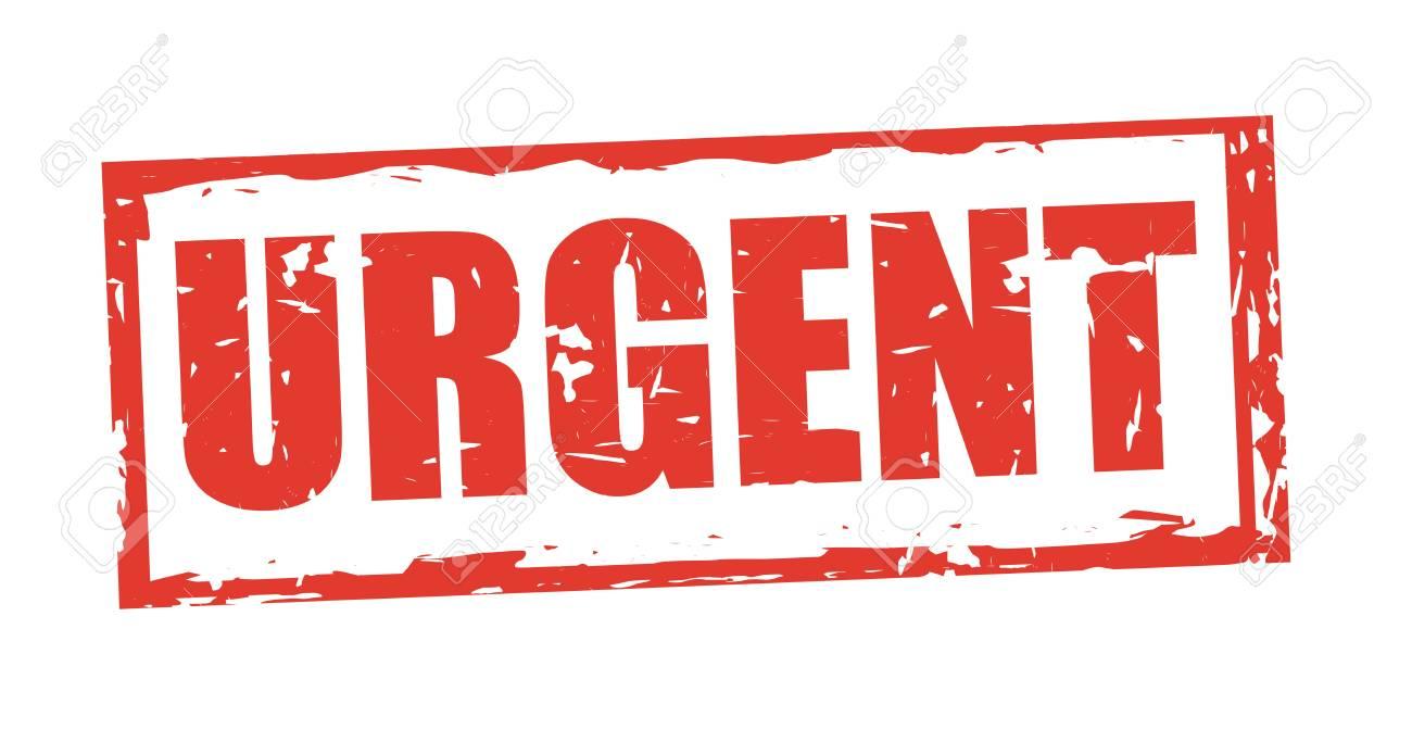 Urgent stamp design, vector illustration graphic - 100487475