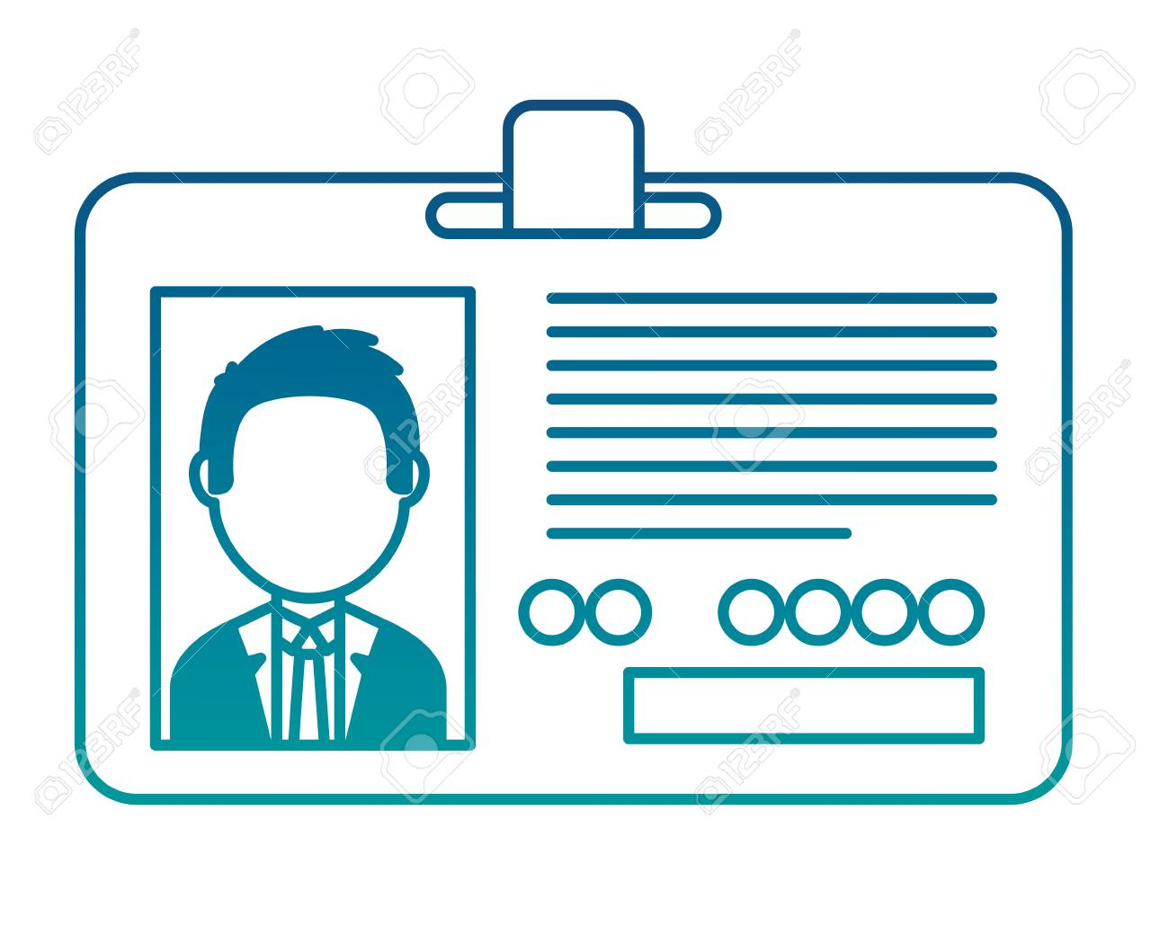 Corporate id card employee photo vector illustration neon color - 101115031