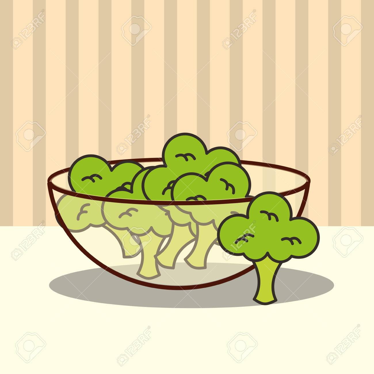 glass bowl with fresh broccoli vector illustration royalty free cliparts vectors and stock illustration image 101681210 123rf com