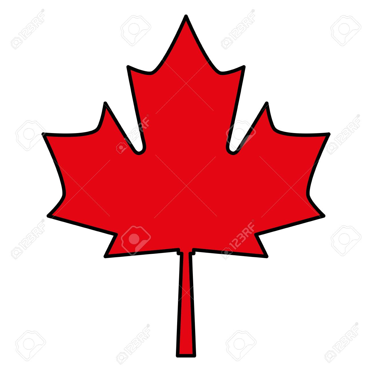 Red Maple Leaf Canadian Symbol Vector Illustration Royalty Free