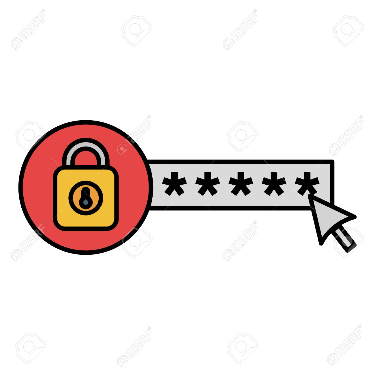 security password with padlock vector illustration design - 104105093