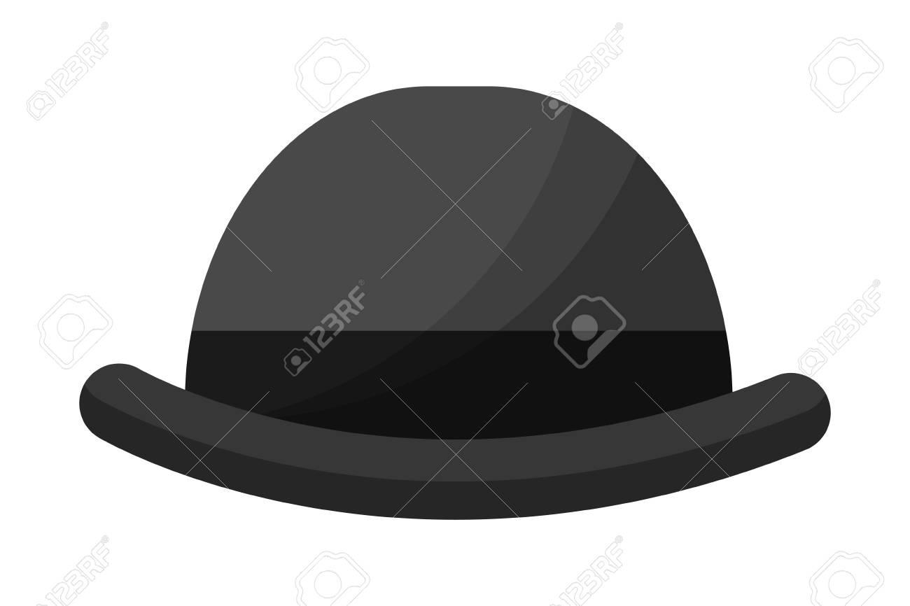a1447e6b2f4f0 english bowler hat elegant accessory vector illustration Stock Vector -  114950859