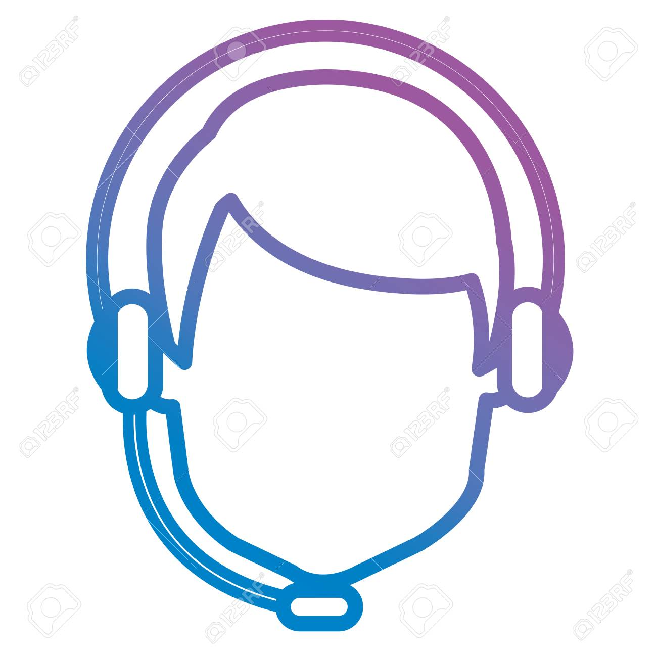 call center agent with headset vector illustration design royalty free cliparts vectors and stock illustration image 105557857 call center agent with headset vector illustration design