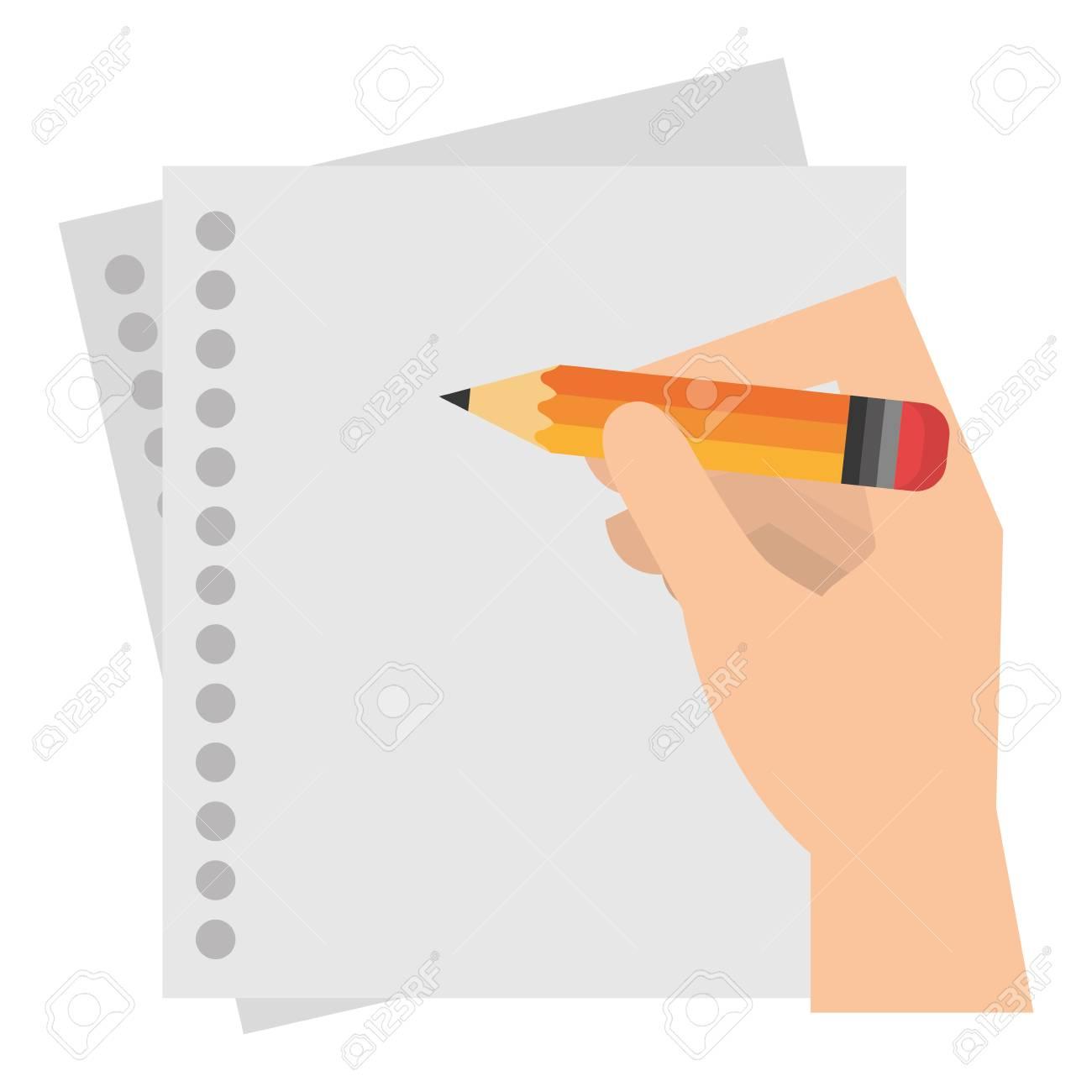 hand writing in notebook sheet vector illustration design - 105561620