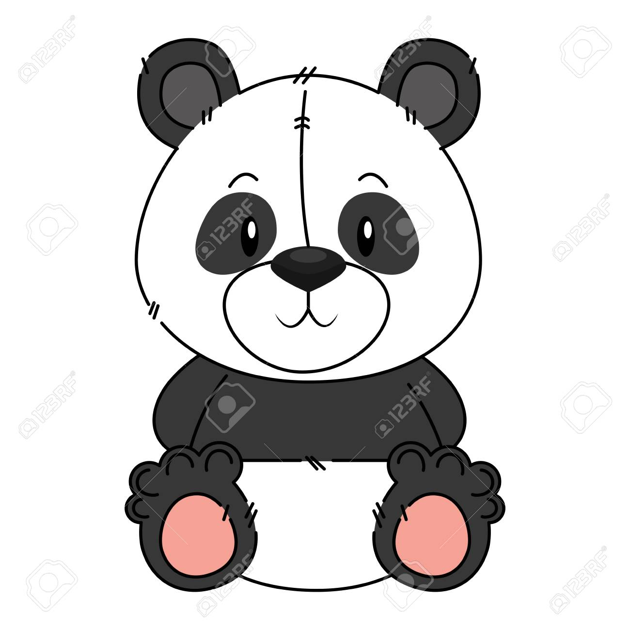 Anxiety Stuffed Animal, Cute And Adorable Panda Bear Character Vector Illustration Design Royalty Free Cliparts Vectors And Stock Illustration Image 112326868