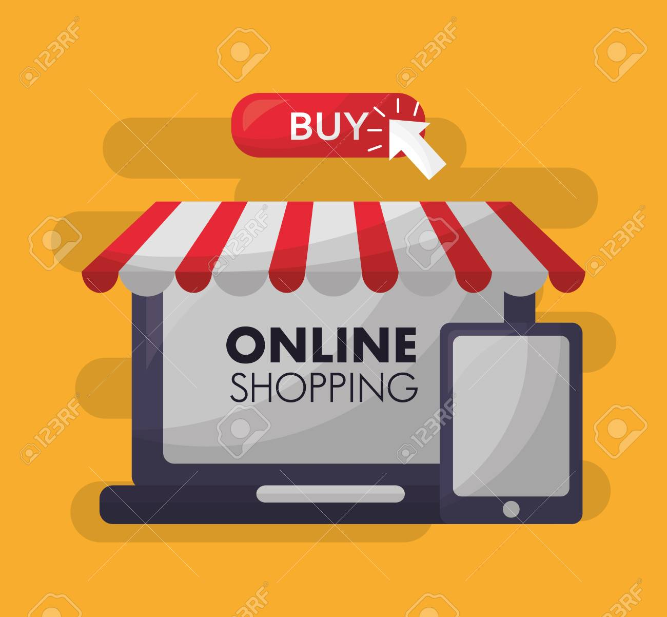Online Shopping Shop Store Smartphone Buy Things Vector Illustration  Royalty Free Cliparts, Vectors, And Stock Illustration. Image 112301681.