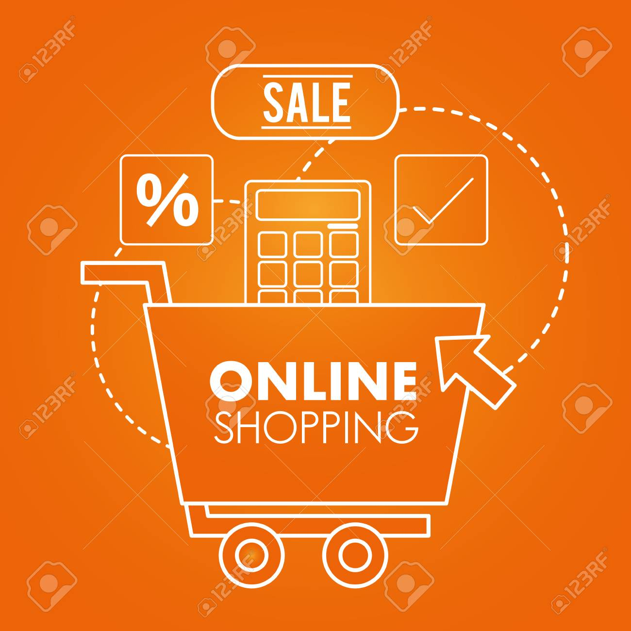 Online Shopping Sale Discount Offers Shop Car Sign Vector Illustration Royalty Free Cliparts Vectors And Stock Illustration Image 105875791