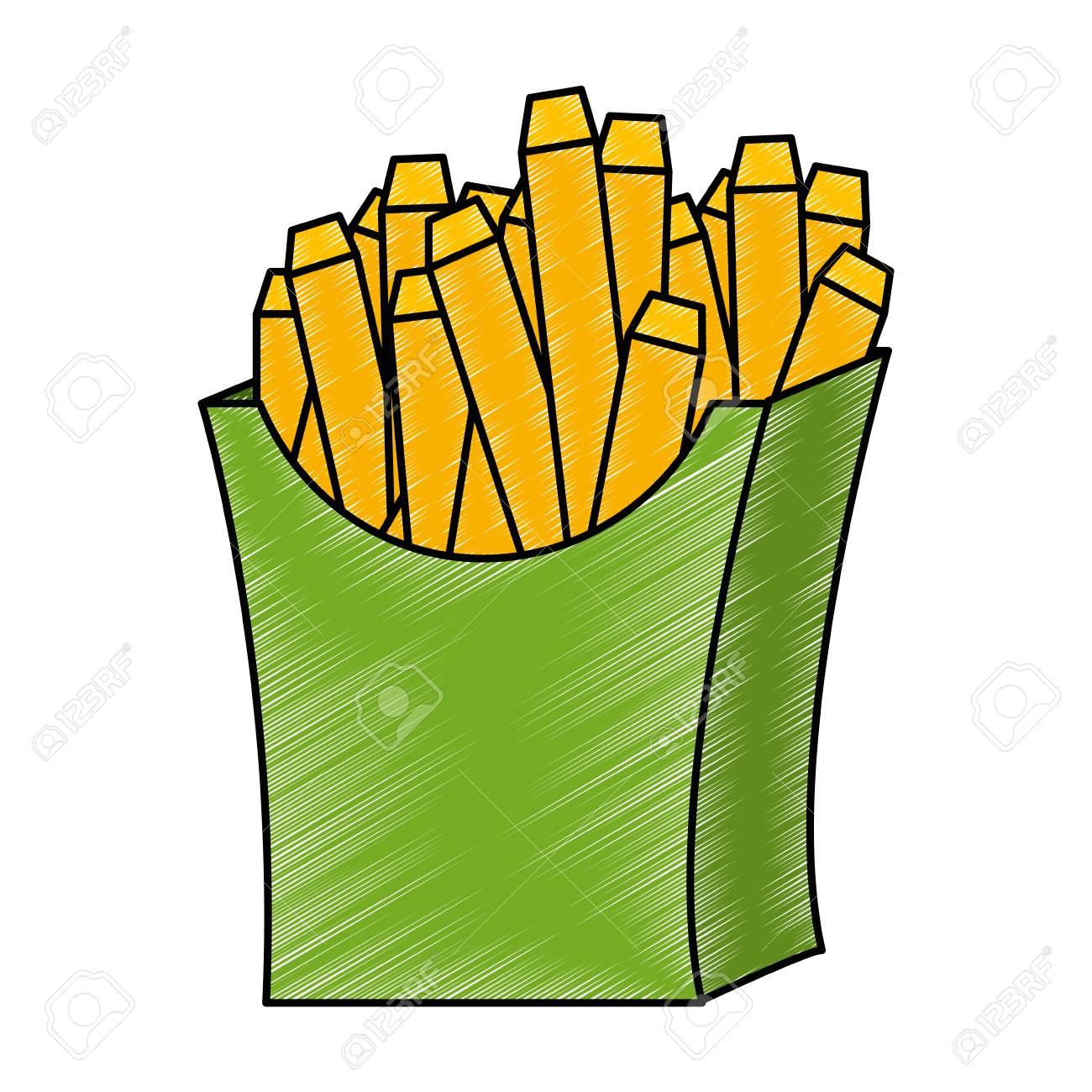 delicious french fries icon vector illustration design - 111928274