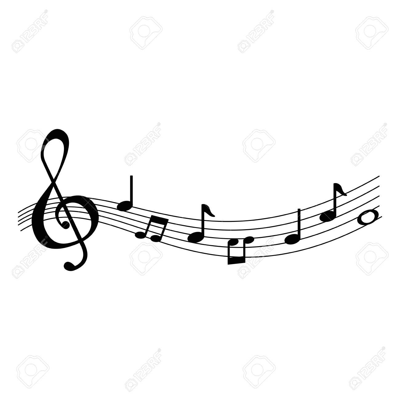 musical partiture notes icons vector illustration design - 111928447