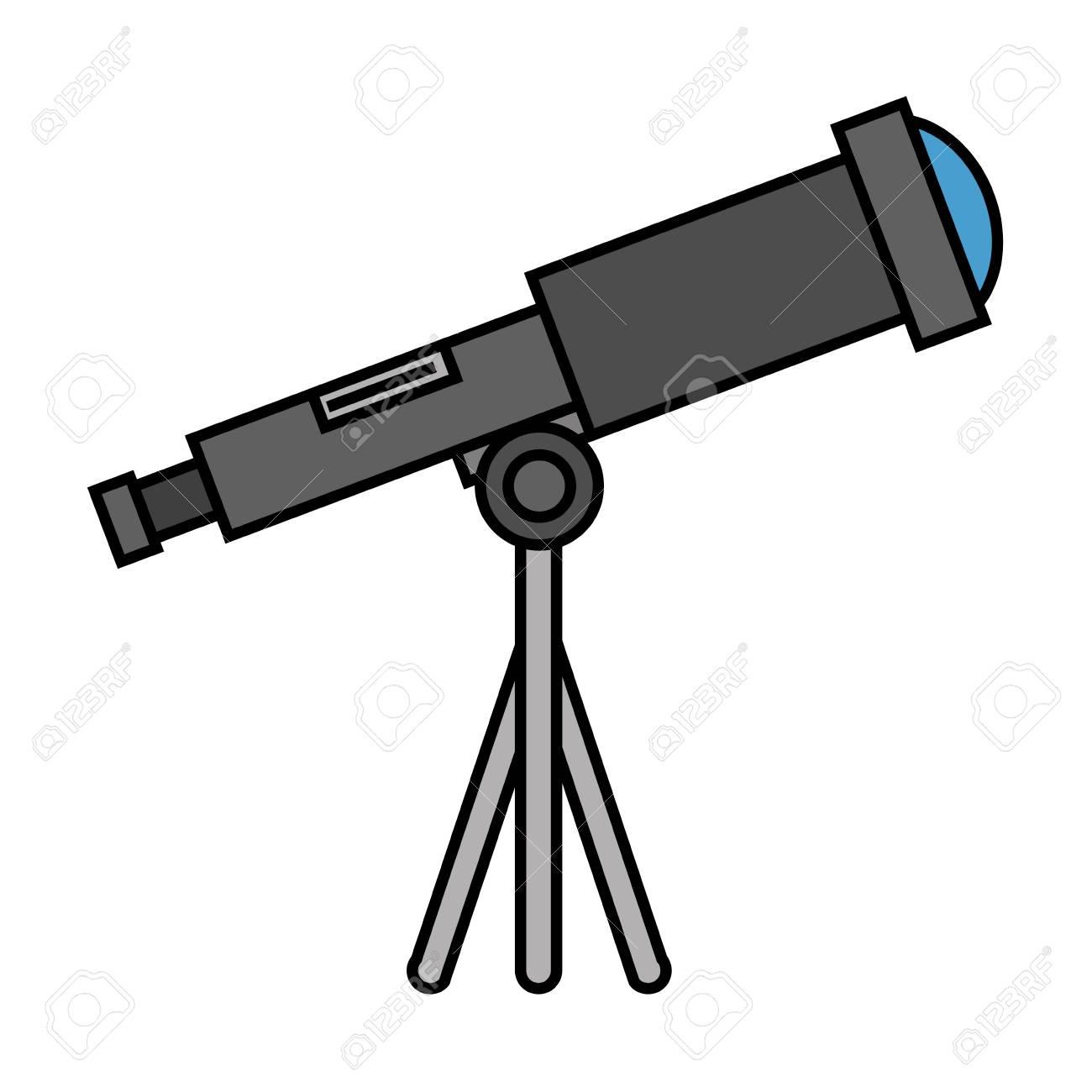 telescope device isolated icon vector illustration design - 111861053