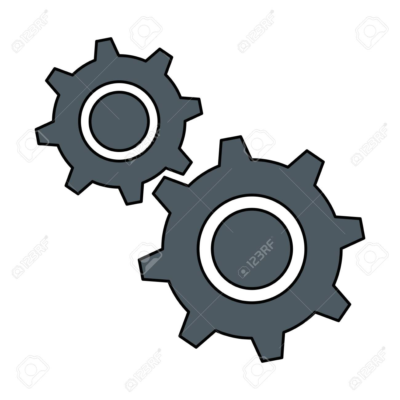 gears machinery isolated icon vector illustration design - 111861183