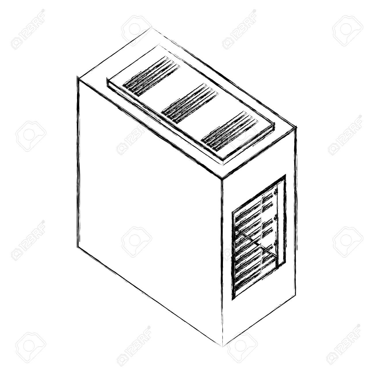 cpu drawing wiring diagram database Computer Case Parts puter server case cpu hardware vector illustration hand drawing keyboard cartoon drawing cpu drawing