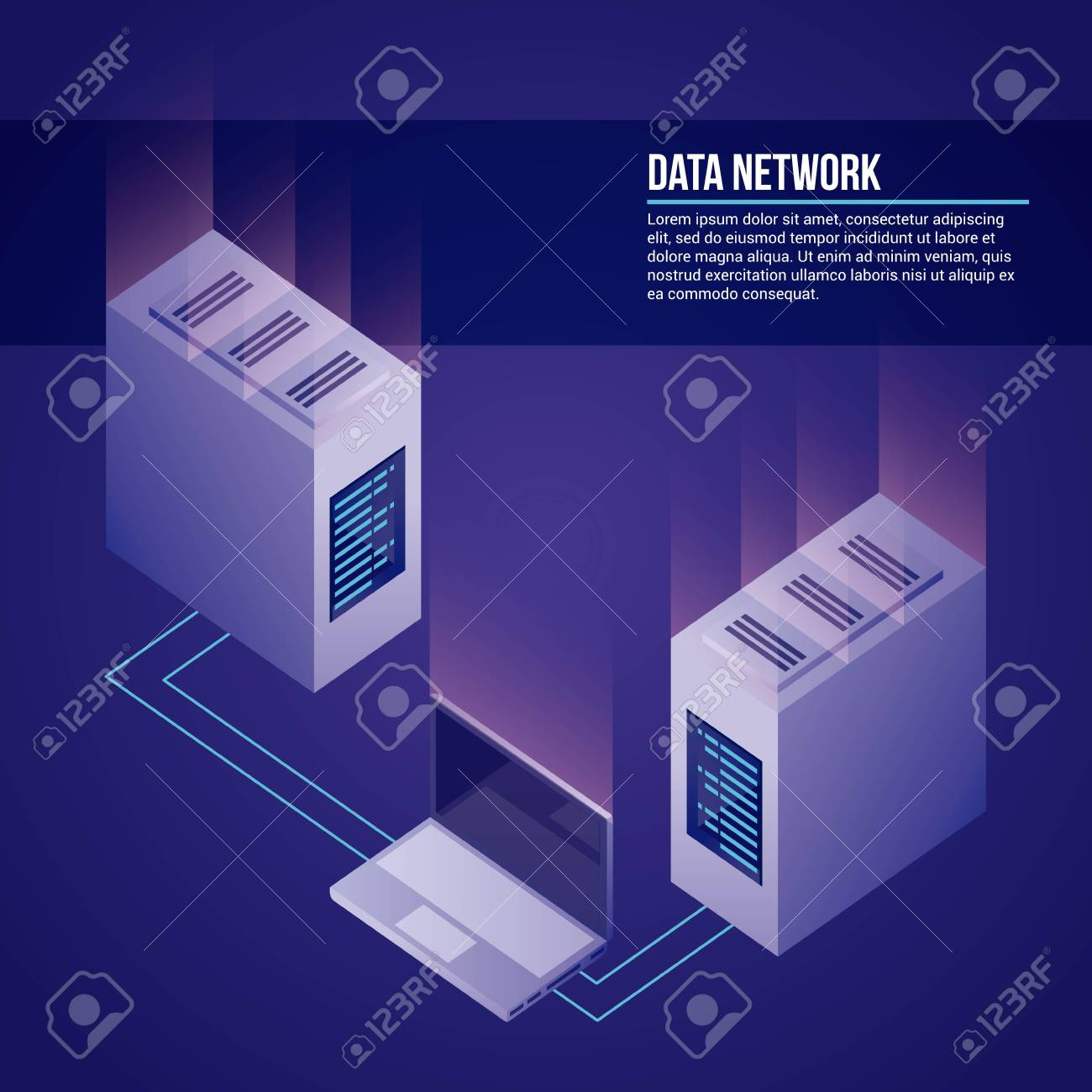 data network towers computer base vector illustration - 111664829
