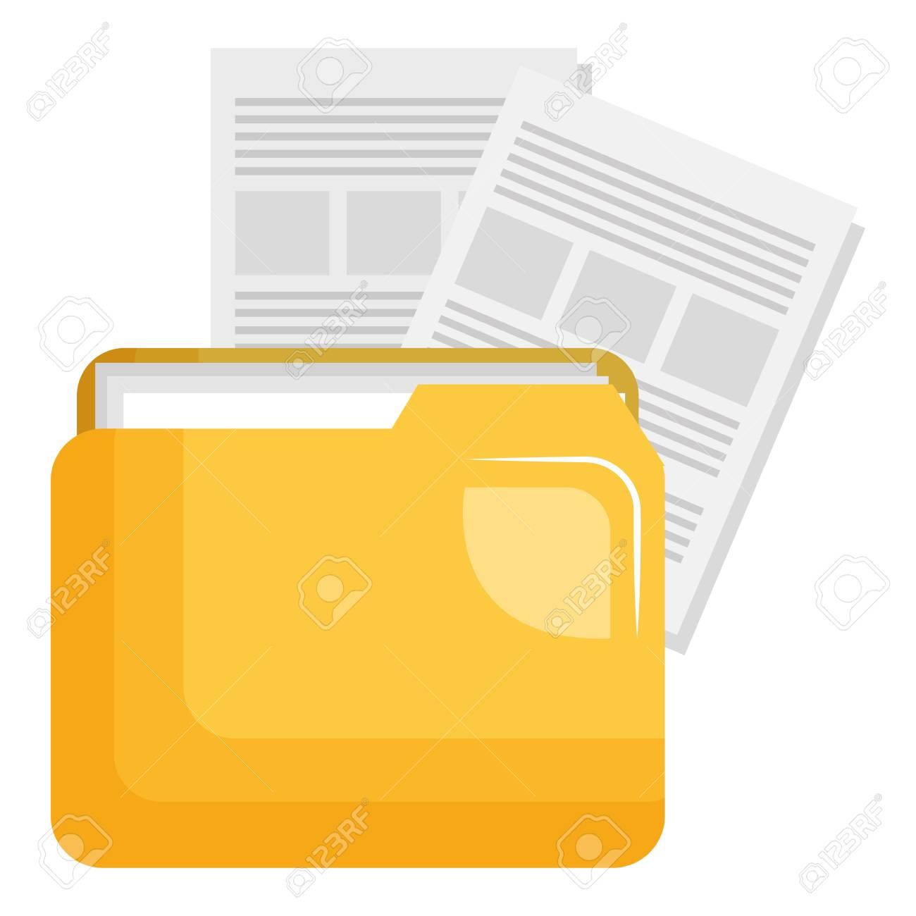 file folder with documents vector illustration design - 110420033
