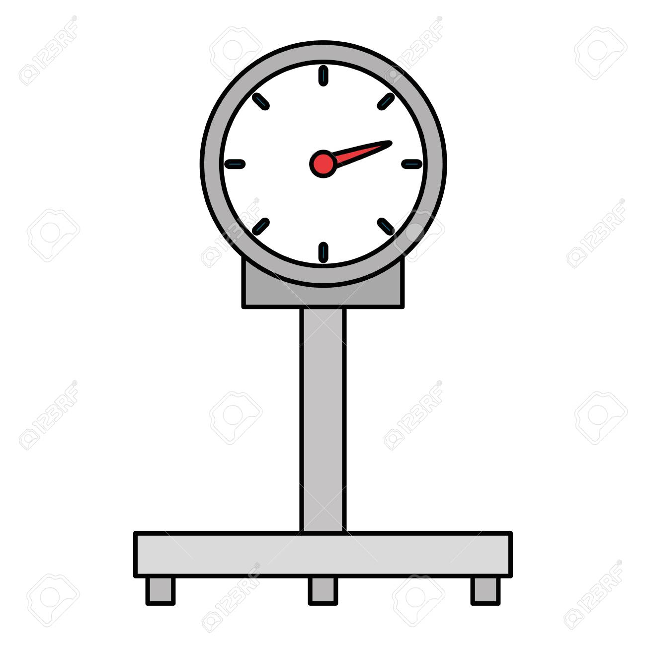 scale measure weight delivery service vector illustration design - 110303388