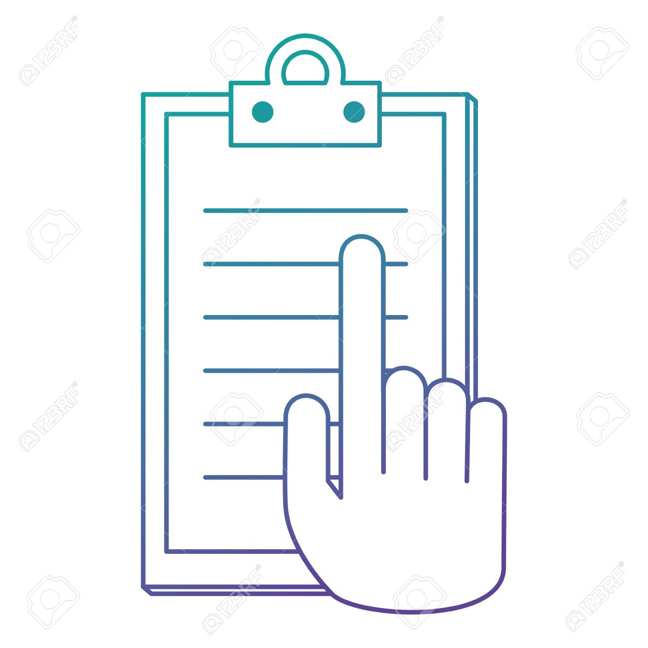 hand with checklist clipboard vector illustration design stock vector 110154711