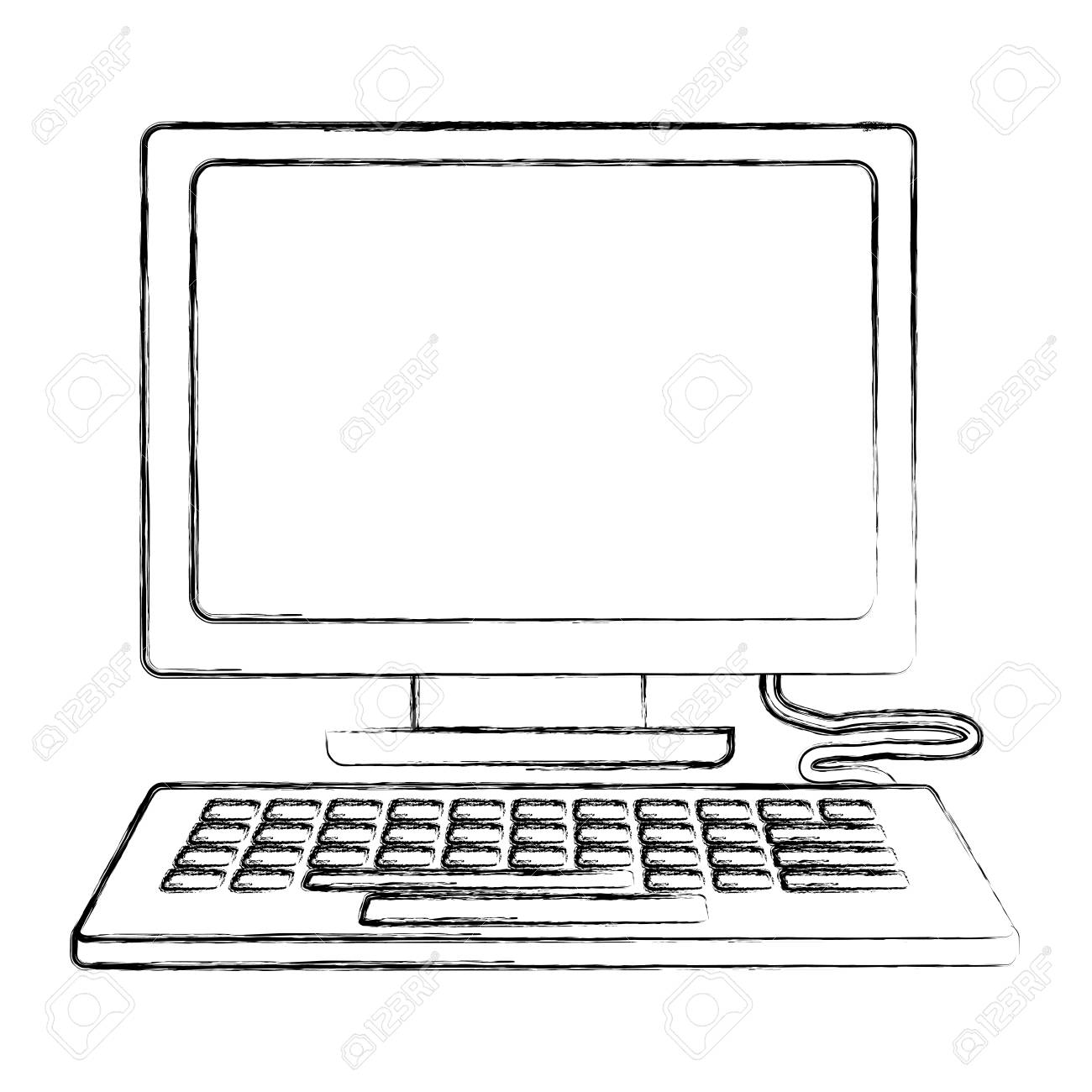 Computer Keyboard Device Technology Digital Vector Illustration Royalty Free Cliparts Vectors And Stock Illustration Image 109952622