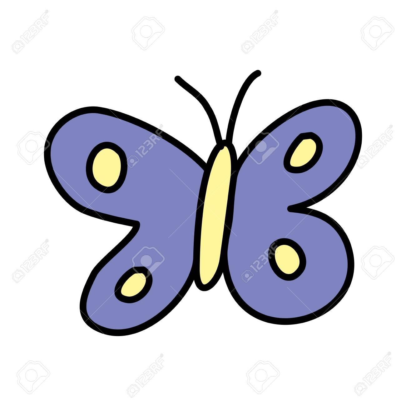 Cute butterfly drawing icon vector illustration design stock vector 109741600
