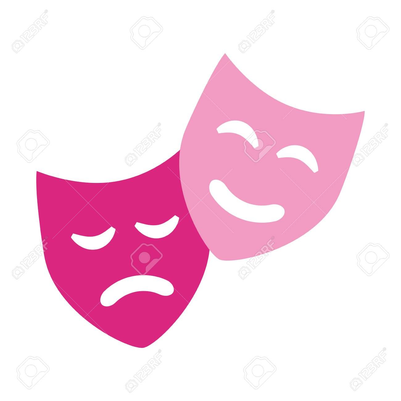 comedy drama masks theater symbol vector illustration - 109939978