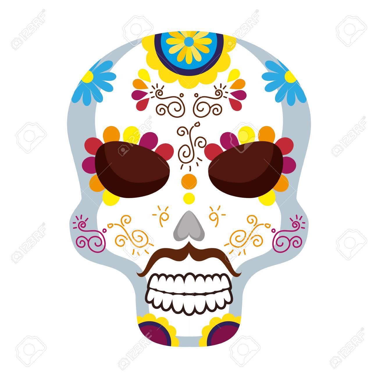 Mask Of The Santa Death Vector Illustration Design Royalty Free