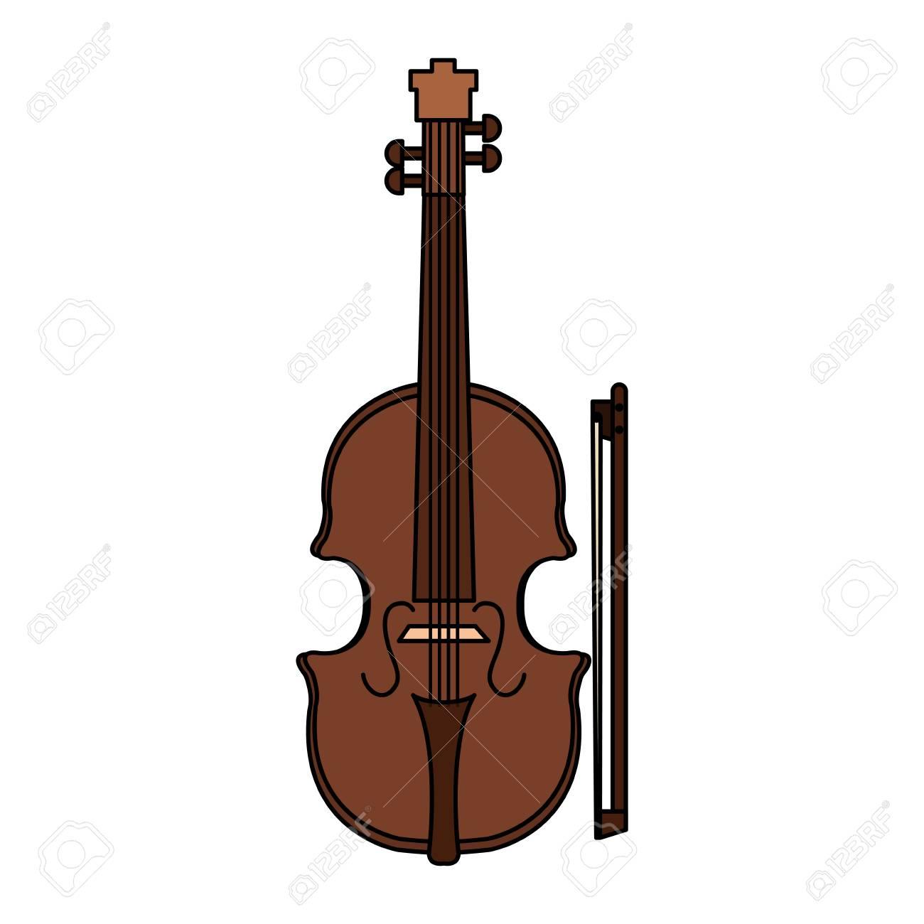 Classic Cello Instrument Icon Vector Illustration Design