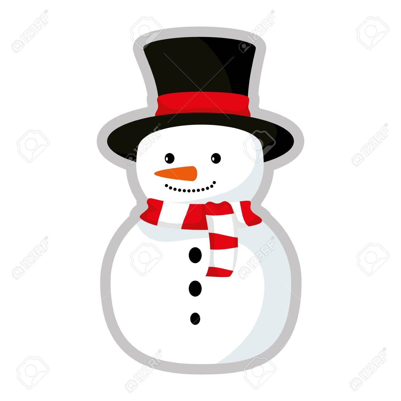 Cute Snowman Christmas Character Vector Illustration Design Royalty Free Cliparts Vectors And Stock Illustration Image 111072254