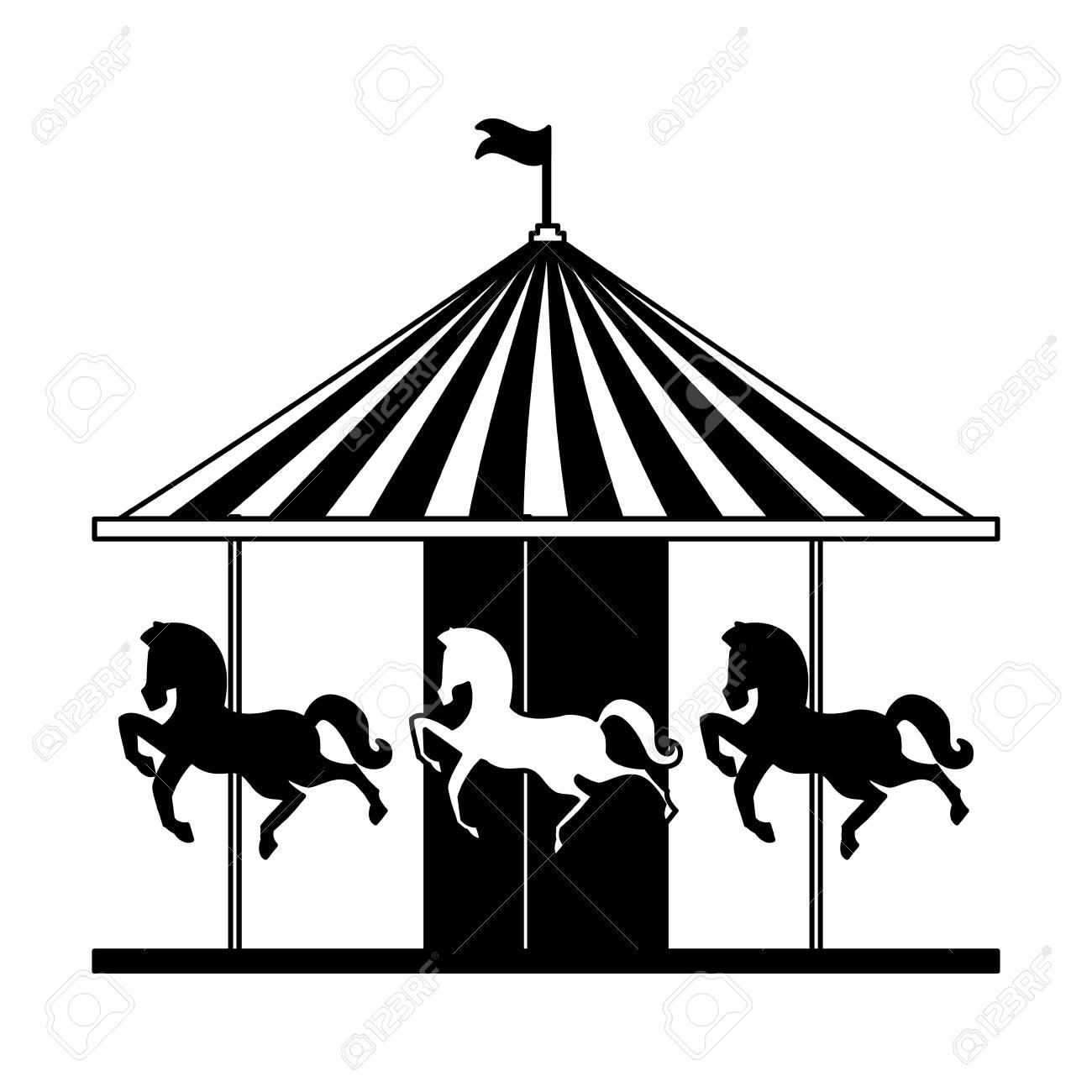 Carousel Horses Fun Fair Circus Carnival Vector Illustration Royalty Free Cliparts Vectors And Stock Illustration Image 111413106