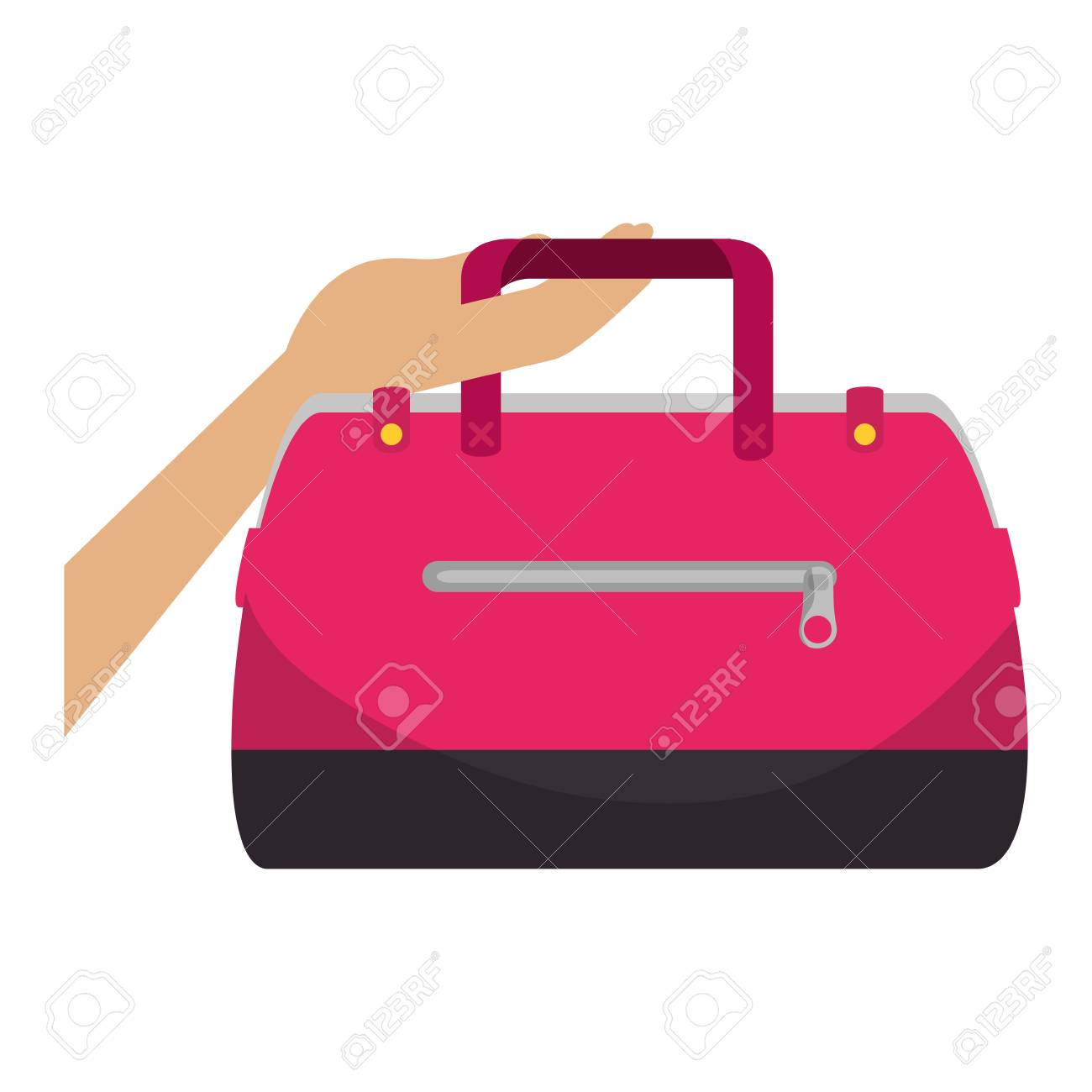 hand lifting fashion feminine handbag vector illustration design Stock  Vector - 111397743 fc91f63fe0