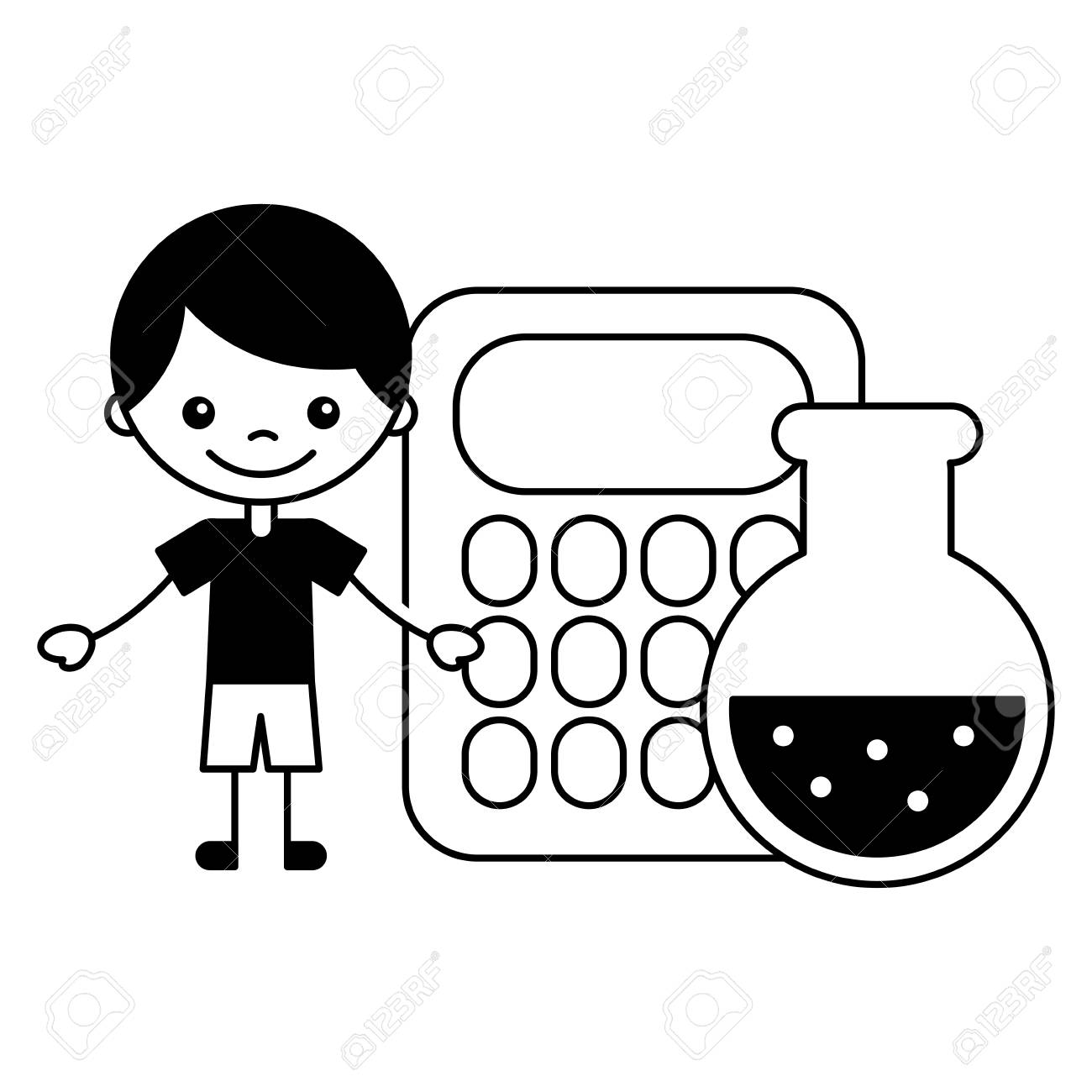 Test Tube And Retort Icon Cartoon. Single Education Icon From.. Royalty  Free Cliparts, Vectors, And Stock Illustration. Image 63731777.