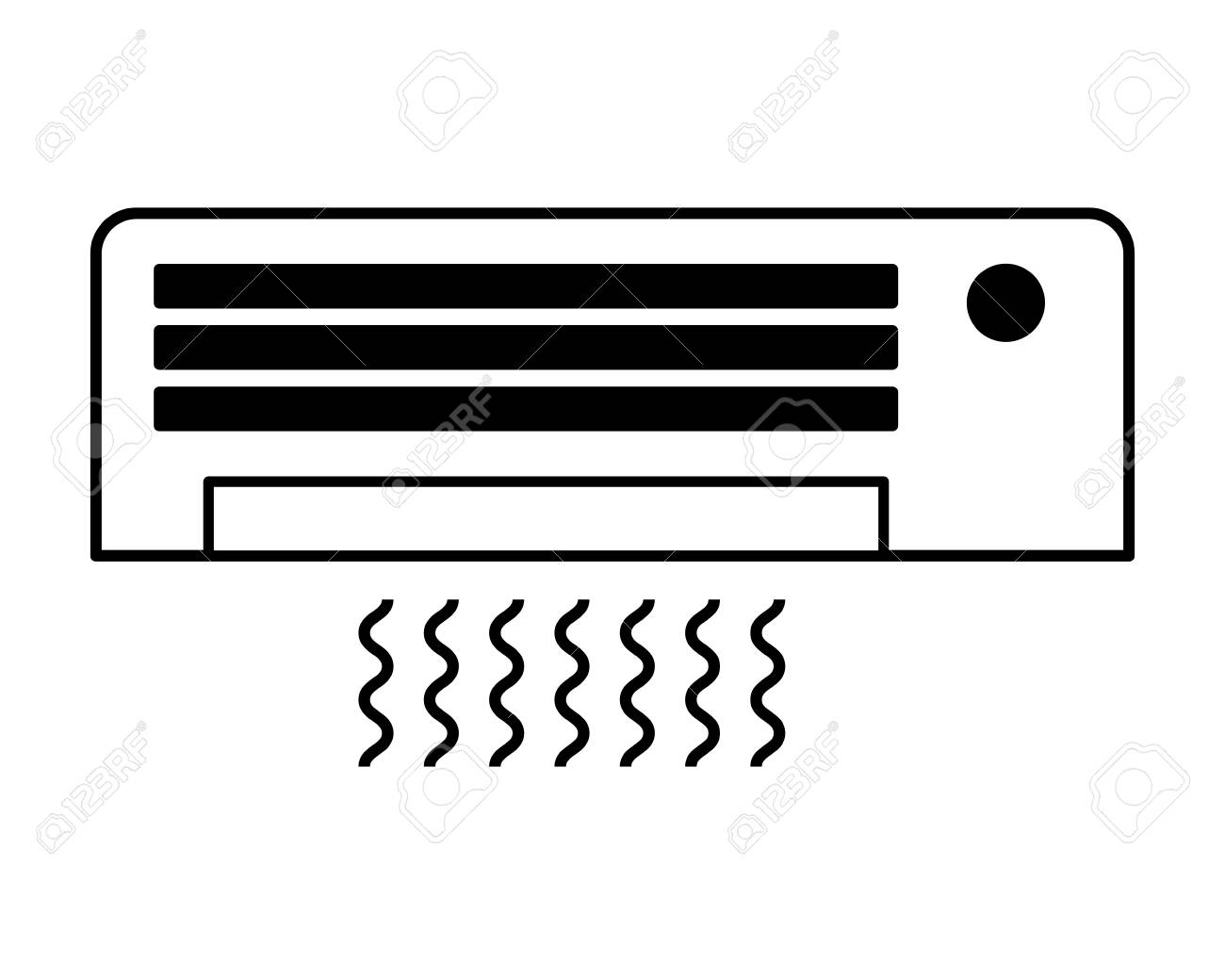 air conditioner on white background vector illustration - 127317580