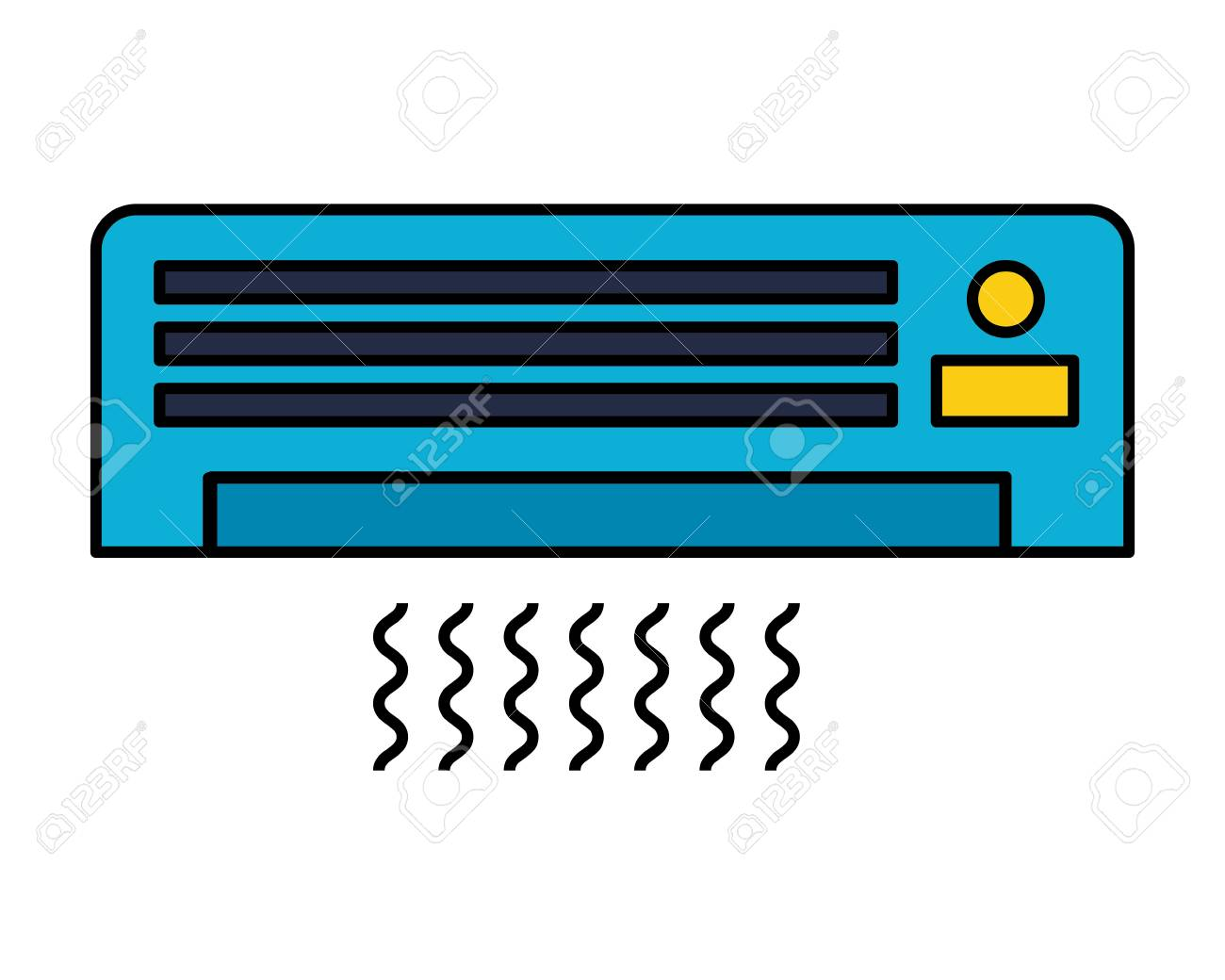 air conditioner on white background vector illustration - 127317609