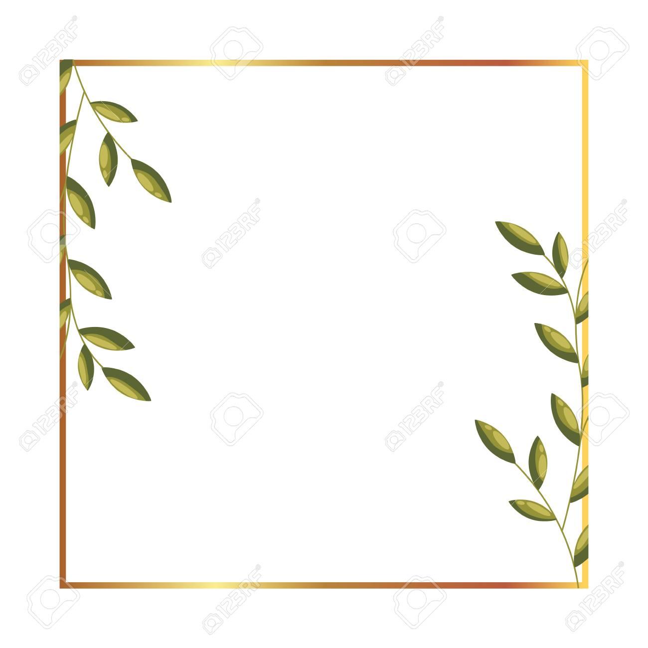 floral label flowers leaves decoration vector illustration - 127273421