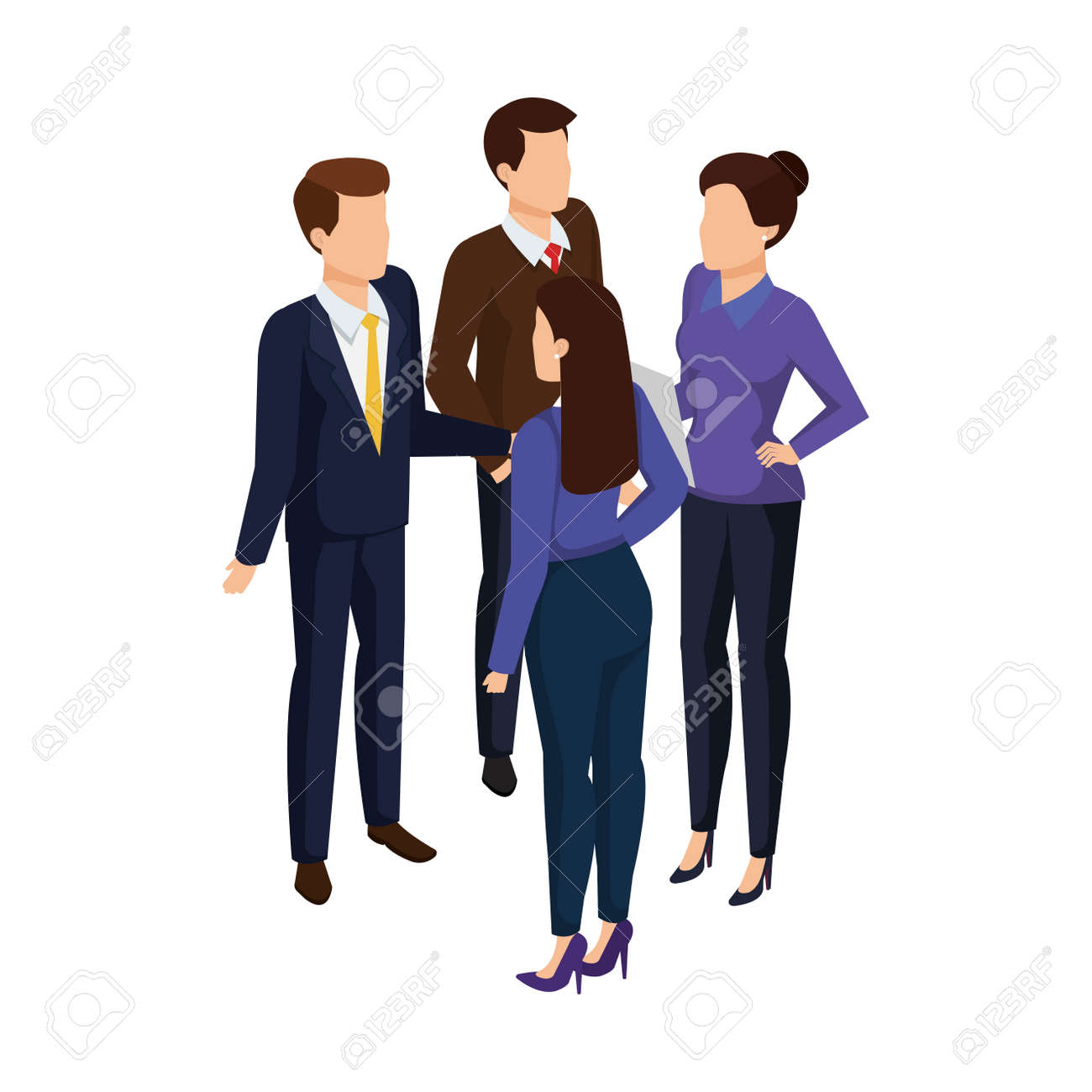 group of business people avatars characters vector illustration design - 127009406
