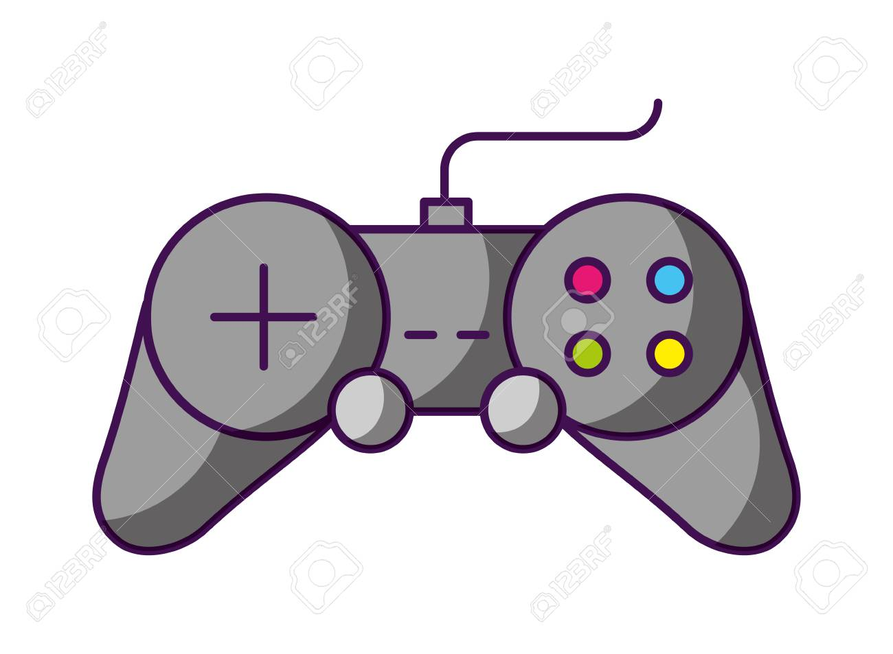 controller video game white background vector illustration - 126463916