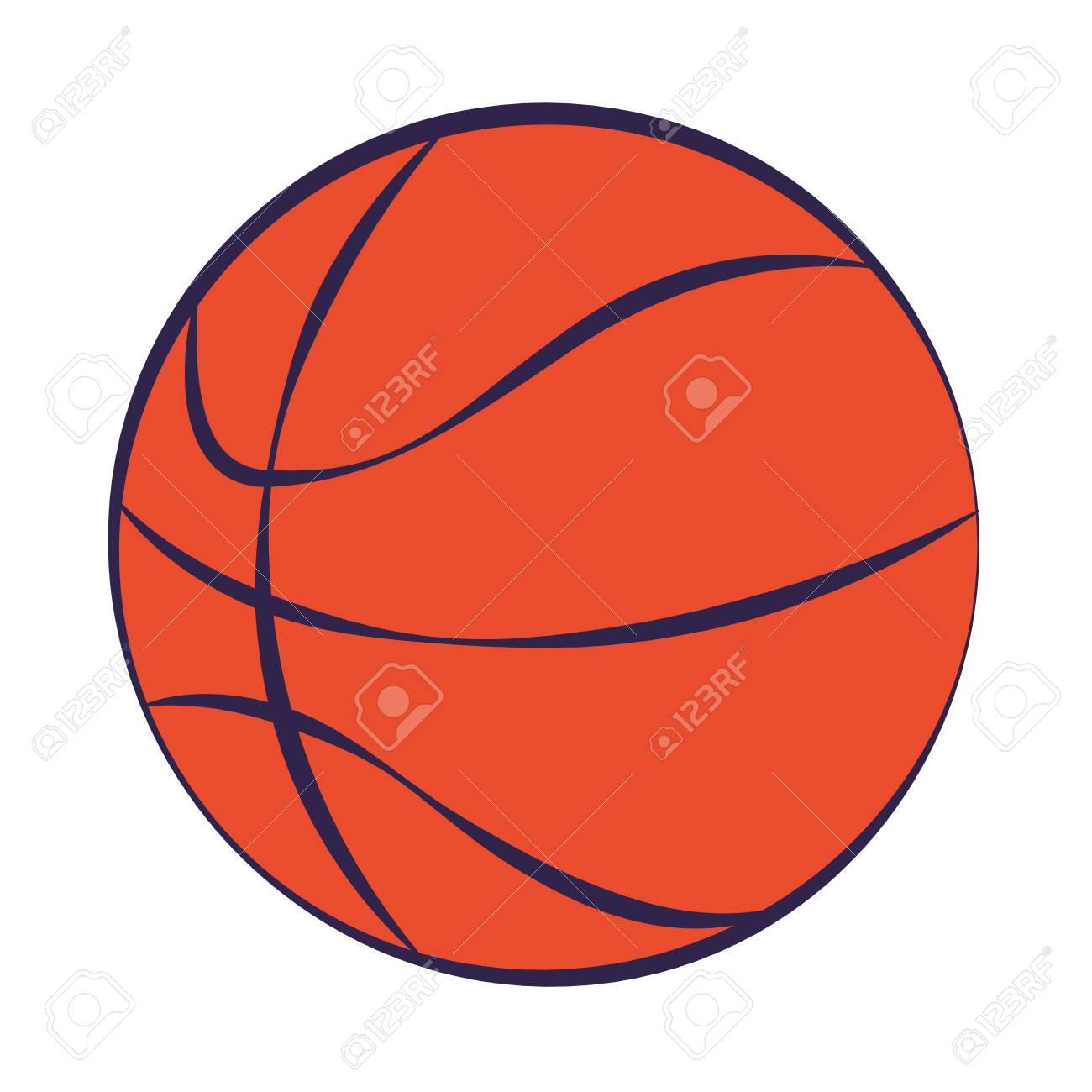 basketball ball sport on white background vector illustration - 126464187