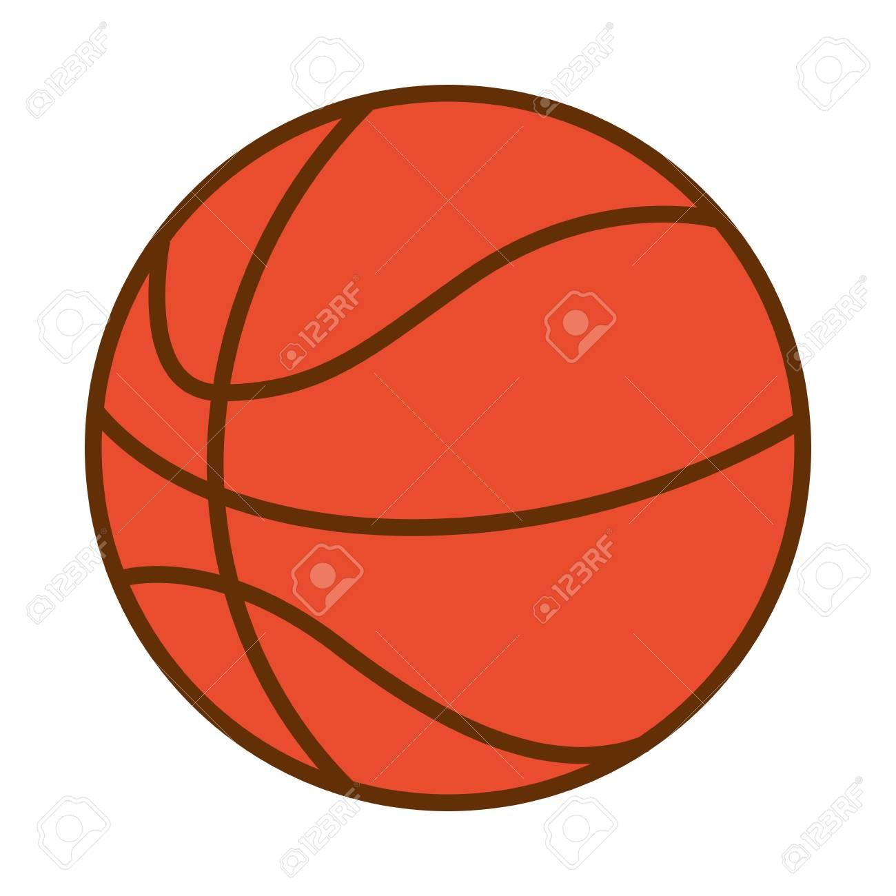 basketball ball sport on white background vector illustration - 126464248