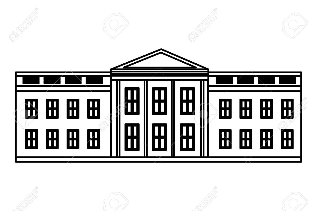 white house washington american flag happy presidents day vector illustration - 126014672